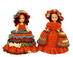 7274 PDF Crochet Toilet Paper Cover Doll Pattern Tori & G