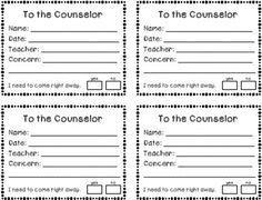 Counselor Request Student Forms {FREEBIE}