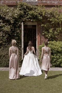 These bridesmaid dresses are beyond adorable.