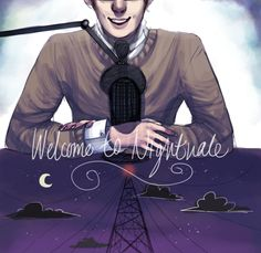 starshot-dreamer: welcome to night vale by ~raggedystrider John Barrowman, Hiram Mcdaniels, Cecil Baldwin, Night Vale Presents, Glow Cloud, The Moon Is Beautiful, Beautiful Artwork, Nothing To Fear, Cultural Events