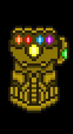 Infinity Gauntlet pixel wallpaper