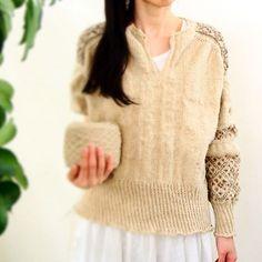 Teru Sweater in #MoekeYarns Elena - gorgeour photo, talented knitter ❤️