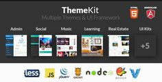 ThemeKit - Bootstrap Admin Theme Kit - Admin Templates Site Templates