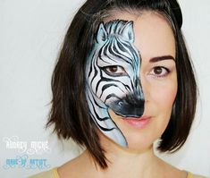 Face Painting Designs, Body Painting, Zebra Face, Butterfly Face Paint, Animal Paintings, Face Paintings, Pet Day, Facial, Afro Punk