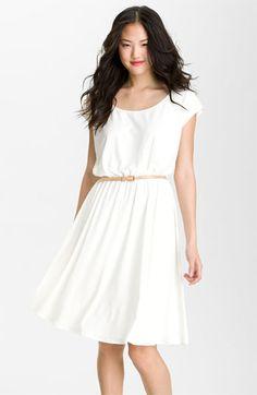 Maggy London Belted Matte Jersey Dress