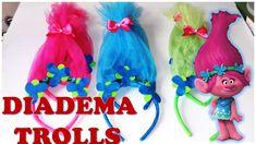 D.I.Y. Poppy trolls diadema para fiesta!!! Hazlo facil!!!