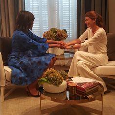 """""""Charla con Michelle antes del encuentro en el Centro Metropolitano de Diseño"""""""