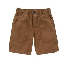 Toddler Boys Woodland Brown The Easy-On Short by Gymboree