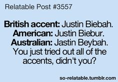 "...it's true i totally did...hahahaha...it's like saying ""beer can"" it's ""bacon"" in Australian!!! hahaha"