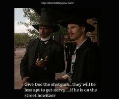 Val Kilmer as Doc Holliday Tombstone Movie Quotes, Tombstone 1993, Doc Holliday Wynonna Earp, Wyatt Earp Movie, Doc Holliday Tombstone, Cowboy Quotes, Val Kilmer, Cinema, Southern Sayings