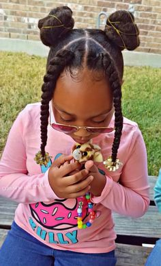 Love Sevae's new style 🎀 Scroll left ⬅️ - Kids Hairstyles Lil Girl Hairstyles, Girls Natural Hairstyles, Natural Hairstyles For Kids, Kids Braided Hairstyles, Birthday Hairstyles, Toddler Hairstyles, Mixed Kids Hairstyles, Teenage Hairstyles, Short Hairstyles