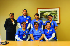 JACK FIRNENO / WIRE PHOTO Six Native American nursing students from Gallup, N.M. visited Doylestown Hospital as part of a new exchange progr...