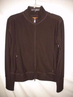 Lucy Activewear Size Medium Brown Full Zipper Women Athletic Track Jacket #Lucy #Jacket