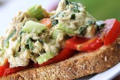 """skinny mommy's """"not your mama's tuna salad"""". Looks divine!"""