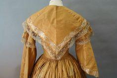 In the Swan's Shadow: Taffeta day dress, 1850s  Civil War Era Fashion