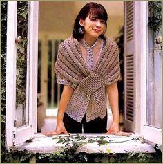 Um charme de echarpe em tricô..  Por sobre os ombros aquece e embeleza!          Grafico Echarpe