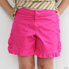 Hot Pink Ruffle Shorts