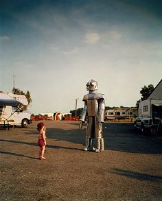 Little Girl and a Robot