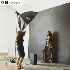 Behind the scenes by @suebryce : Profoto B1 5 foot Octa
