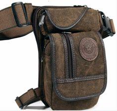 New Men/'s Motorcycle Rider Leg Bag Outdoor Hiking Camping Waterproof Waist Bag