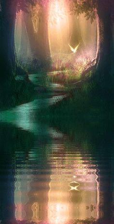 El río que recorre el mágico mundo en La Espada Sagrada.