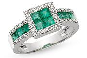 Very striking ring, love the emeralds