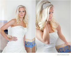 bridal shoot jeweled hair band