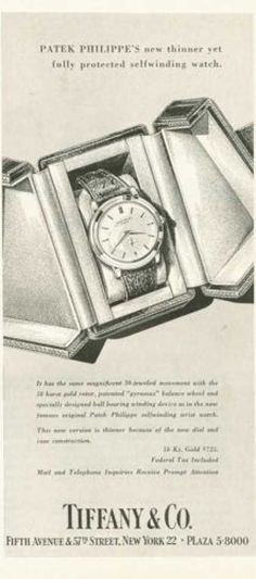 Tiffany & Co Patek Philippe Watch (1955)