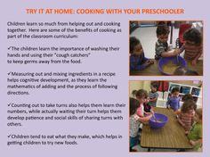 The benefits of cooking with your preschooler