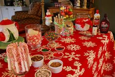 A hot chocolate bar!! How much fun would this be for big and little kids alike? Totally going to do this, this year!