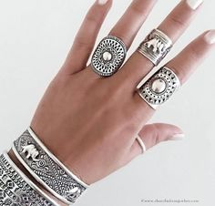 Unique antique rings, Large antique rings, Artistic rings
