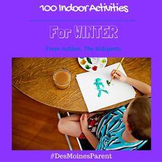 100 Indoor Activities For Winter Indoor Activities For Kids, Infant Activities, Learning Activities, Christmas Crafts For Kids, The 100, Parenting, Winter, Lifestyle Group, Fun