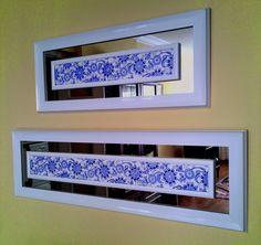 Like the mirror effect Cross Stitching, Cross Stitch Embroidery, Cross Stitch Patterns, Mirror Effect, Turkish Art, Blue Pottery, Islamic Art, Decoration, Diy Home Decor