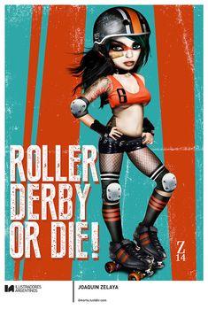© JOAQUIN ZELAYA   Ilustración para la muestra Roller Derby de Ilustradores Argentinos   #rollerderby   Fotos: https://www.facebook.com/media/set/?set=a.725585730870003.1073741832.100296976732218&type=1