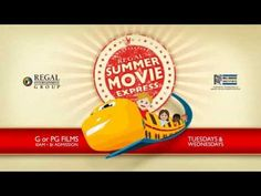 Summer Movie Express at Regal Cinemas - Family movies shown Tuesdays and Wednesdays at 10am throughout summer, only $1