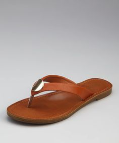 {Chestnut Kendal Flip-Flop by Bamboo}