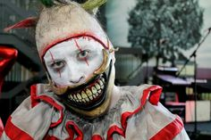 Twisty the clown by Rusty Sinner FX Horror Stories, Halloween Face Makeup, Costumes, Pictures, Fictional Characters, Photos, Dress Up Clothes, Fancy Dress, Fantasy Characters
