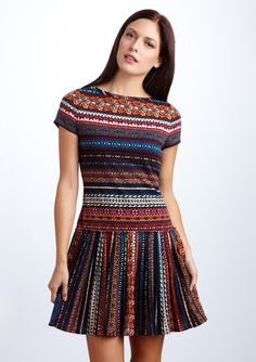 Nine West - Fair Isle Knit Short Sleeve Dress  If it had a longer skirt, I'd snap it right up!