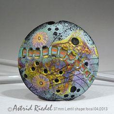 Astrid Riedel Glass Artist: Mokume gane series..