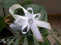 maslova ♥ biela Diy Ribbon, Corsages, Boutonnieres, Bows, Weddings, Christmas, Arches, Xmas, Bowties