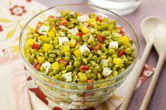 Salada de ervilha colorida da Camil - Cozinha Simples da Deia