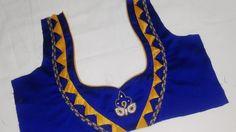 Simple Blouse Neck designs For Designer Saree