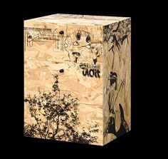 printed osb chest of drawers