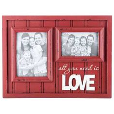 Red All You Need is Love Collage Wall Frame