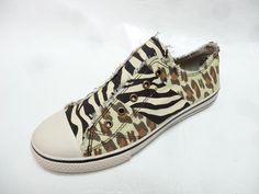 ARIZONA Womens ABBEY animal print canvas trainers sneakers shoes 7.5 NEW #Arizona #FashionSneakers