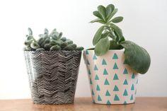 DIY painted pots - www.craftifair.com