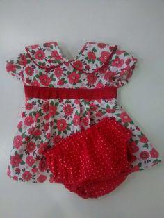 DIY SEWING COSIENDO Vestido bebe niña 0-3 m + cubrepañal lunares rojo y blanco . Patrón e ideas sacados de Ohmotherminediy !