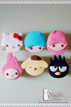 Little twins star, Purin, Badte-maru (XO), Hello Kitty, My Melody