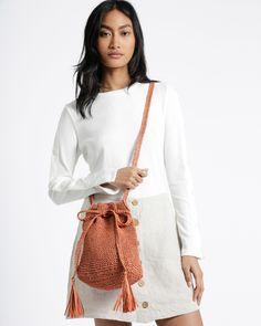 STARSTRUCK BAG / KIT Double Crochet, Single Crochet, Easy Crochet, Knitting Patterns, Crochet Patterns, Crochet Wool, Running Stitch, Simple Bags, Summer Hats