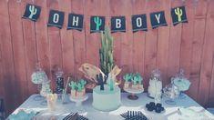 Cactus baby shower #ohboy#susiescakes#candybar#diybanner#cacti
